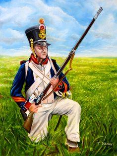 French fusilier, 21ieme regiment de ligne