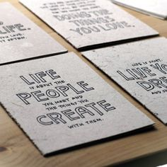 Yoko Manifesto Cards