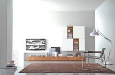 Modern Solid Wood TV Wall - Minimalsim Style for your living room  http://www.livarea.de/inspiration/mobel-kataloge/fgf-mobili-katalog-box/fgf-mobili-wohnwand-c18b.html