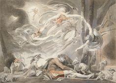 """Johann Heinrich Füssli d. J.   """"The Shepherd's Dream""""   1786   Albertina, Wien  #WeltenderRomantik #WorldsofRomanticism #romantic #Art #Romanticism"""