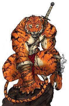 anime white tiger warrior - Google Search