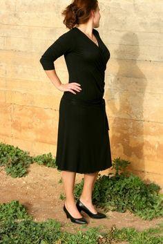 Elegant Wrap Dress - made to measure, $98