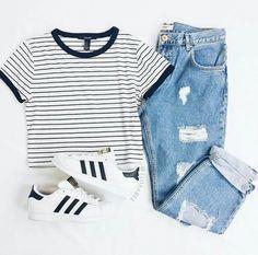 Outfit para la escuela, cómodo y sencillo http://hubz.info/121/pretty-pastel-hair-color-ideas