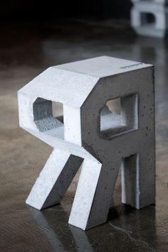 concrete version by Micromut (Lettering) by Lo Siento Studio, Barcelona Branding And Packaging, Packaging Design, Lettering Design, Logo Design, Graphic Design, Concrete Casting, 3d Words, Cement Art, Bubble