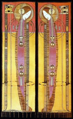 Margaret MacDonald Mackintosh - Embroidered Panels 1902