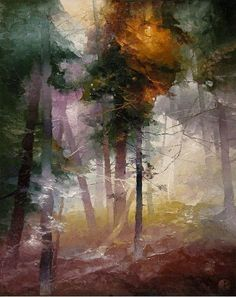 Lithuanian artist, Petras Lukosius, whose works are in Breck and Vail. Watercolor Trees, Watercolor Landscape, Landscape Art, Landscape Paintings, Art For Art Sake, Tree Art, Art Techniques, Photo Art, Art Photography