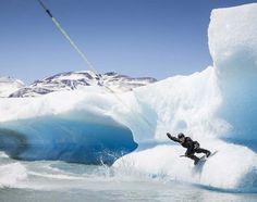 Wakeboard sur les Icebergs en Patagonie #wake