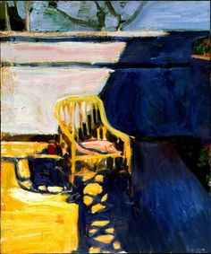Richard Diebenkorn, 1959. Cane Chair–Outside.