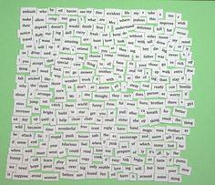 Starter Kit  Magnetic Word Set by RefrigeratorProse on Etsy, $12.00