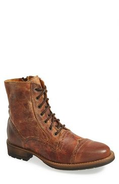 Steve Madden 'Nashh' Cap Toe Boot (Men) available at #Nordstrom