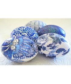 Loving these blue and white Easter Eggs Plus the Most Elaborate Easter Eggs