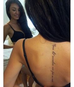 Want this placement and maybe smaller print! Senza sofferenza non ci sarebbe compassione which is Italian for without suffering thered be no compassion my favorite quote for almost 11 years! Quoteslt;3   tattoos picture spine tattoos