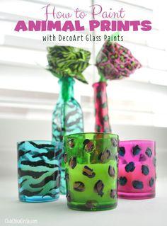 How to Paint Animal Prints wtih DecoArt Glass paints