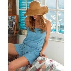 Combishort Brigitte Bardot, Online Fashion, Shops, Beauty Hacks, Beauty Tips, Her Style, Fascinator, Panama Hat, Hair Beauty