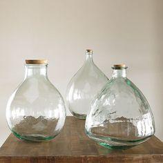 glass bottles...