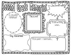 Second Grade Memories {End of Year Activity}