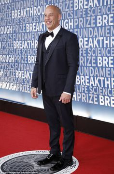 Fast and furious: Vin Diesel rocked a three-piece suit Three Piece Suit, 3 Piece Suits, Vin Diesel, 3 Piece Suit Wedding, Groom Attire, Groom Suits, Slim Fit Suits, Gown Pattern, Black Suits