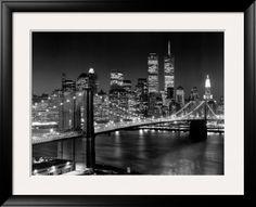 Nova York, Nova York, Ponte do Brooklyn Poster por Henri Silberman na AllPosters.com.br