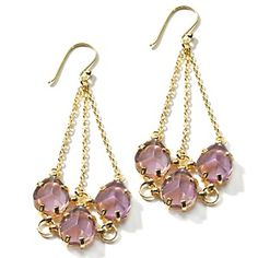 Sally C Treasures Colored Gemstone and Crystal Drop Earrings at ...