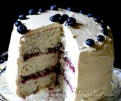 Lemon and Blueberry Butter Cake ~ It's a Spring Thing - Cupcakes & Crinoline | Cupcakes & Crinoline