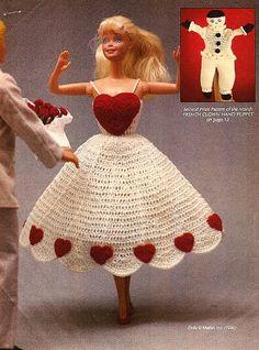 Sweet-Heart Fashion Doll Dress Valentine Pattern