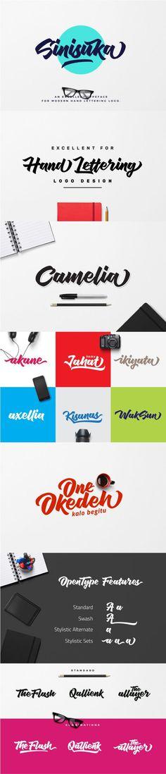 Nice Font / Type / Lettering / Design / Sinisuka - Calligraphy Script