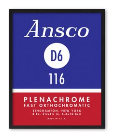Ansco D6 116 Plenachrome, Photo Film Screenprint Series by Jerome Daksiewicz