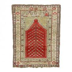 Antique Sivas Wool Rug - 3 2 x4 2