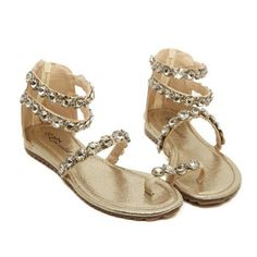$24.86 Sweet Beading and Zip Design Sandals For Women