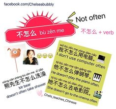 How to use 不怎么 +verb to express 'not often' in Chinese ------------------------------------------------------------------------------------------------------------Subscribe❗️ facebook: Facebook.com/chelseabubbly  youtube:YouTube.com/c/Chelseabubbly  ______________________________________________________   #chinesevocab #汉语  #putonghua #普通话 #中文 #学中文 #learnchinese #学习汉语 #語言 #studychinese #studychineselanguage #hsk #fluentinchinese #studyingchinese #le...