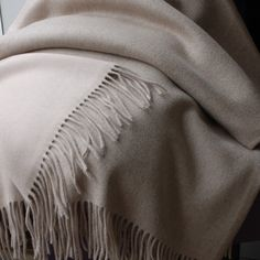 Cashmere reverse colour throw - Cashmere Throws - Throws