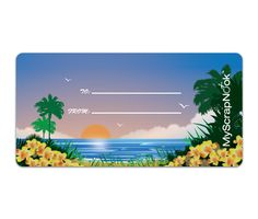 Download this Tropical Paradise Shipping Label and other free printables from MyScrapNook.com
