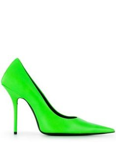 Shop now Balenciaga square knife pumps for at Farfetch UK. Women's Pumps, Pump Shoes, Shoe Boots, Verde Neon, Stiletto Heels, High Heels, Runway Shoes, Spanish Fashion, Loafer Mules