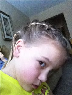 This is a bang French braid and a pony tail.