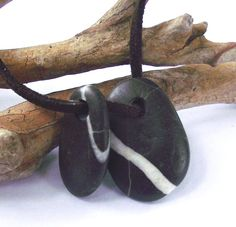 Top drilled Mediterranean beach stones Smooth rock by oceangifts, $6.99