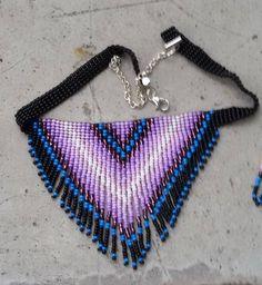 Seed Bead Jewelry, Bead Jewellery, Seed Bead Earrings, Beaded Jewelry, Beaded Bracelets, Jewlery, Fringe Necklace, Multi Strand Necklace, Crochet Necklace