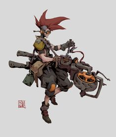 ArtStation - motor, enhao fan Fantasy Character Design, Character Design Inspiration, Character Concept, Character Art, Concept Art, Cyberpunk Character, Cyberpunk Art, Character Design References, Dieselpunk