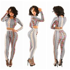 NEW ARRIVAL SEXY LADIES SHOP FASHION CONTRAST COLOR FLOWER PRINT CLUB JUMPSUIT BODYCON BANDAGE PARTY