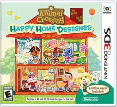 Animal Crossing: Happy Home Designer. Includes one game and one amiibo card. All of your favorite Animal Crossing villagers are looking for new homes, and you?re the designer! Use your creativity to d Nintendo Switch, Nintendo 3ds Games, Nintendo Amiibo, Wii Games, Animal Crossing Characters, Animal Crossing Villagers, Animal Crossing Game, Playstation, Xbox