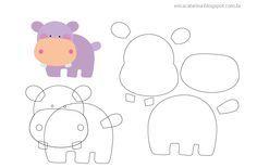 molde de hipopotamo em feltro - Buscar con Google