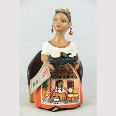 Grinding Stone Collectible Home Decor Mexican Folk Art Walmart Kitchen Chairs, Mexican Chairs, Ceramic Figures, Mexican Folk Art, Pottery, Princess Zelda, Clay, Ceramics, Orange