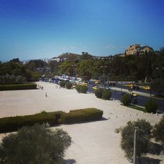 View from the CYA study lounge. Hiding to the left--Kallimarmaro Stadium. #athens #cyathens www.instagram.com/cyathens
