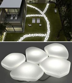 illuminated stepping stones