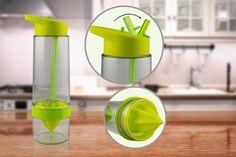 Fruit Fusion Bottle with Citrus Press - 3 Colours!