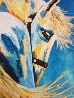 Paard acryl op doek 50x70