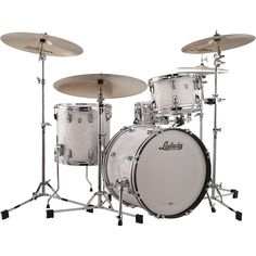 Ludwig Classic Maple 3-Piece Jazzette Shell Pack with 18 in. Bass Drum White Marine Pearl