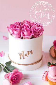 Bespoke Cakes in Hull and Yorkshire Mother Birthday Cake, Fancy Birthday Cakes, Fancy Cakes, Birthday Cake With Roses, Birthday Cake Design, Birthday Ideas, Mini Cakes, Fondant Cake Designs, Fondant Cakes