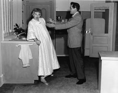 Lucy with Desi Arnaz in 1956 (45 years old)