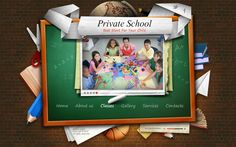 Private School Best Start For Your Child HTML5 Template by Dynamic Template, via Behance