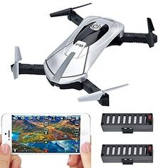 NEW Camera Drone Portable Small Selfie iPhone Android Smart Phone Wifi Fpv Cam #Kbrand